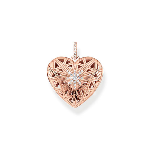 Thomas Sabo Silver Rose Gold Heart Locket - PE861-416-14