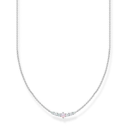 Thomas Sabo Silver Imitation Pink Opal Necklace - K2093-166-7