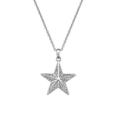 Hot Diamonds Sterling Silver Christmas Star Necklace