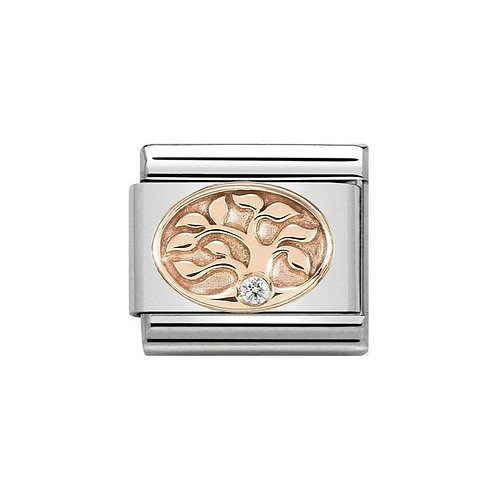 Nomination Rose Gold Tree of Life with Cubic Zirconia Charm Link  - 430305/12