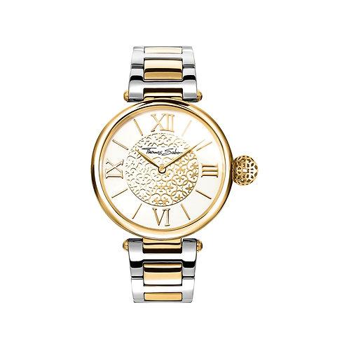 Thomas Sabo Ladies Gold Karma Steel Strap Watch - WA0299