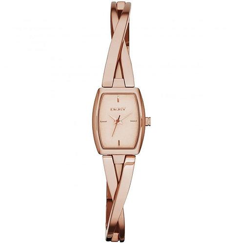 DKNY Ladies Rose Gold Tone Crosswalk Watch - NY2314