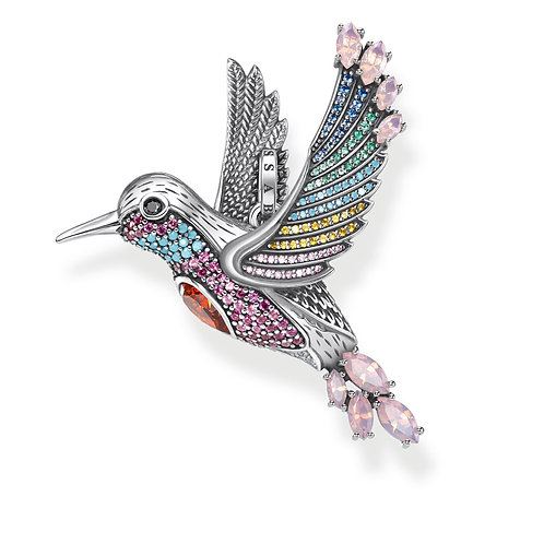 Thomas Sabo Sterling Silver Colourful Hummingbird Pendant - PE875-342-7