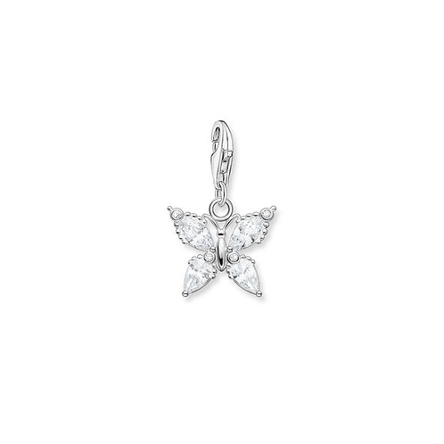 Thomas Sabo Silver Clear CZ Butterfly Charm - 1862-051-14