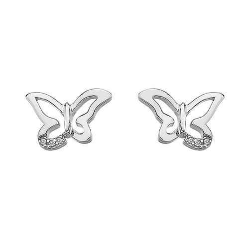 Hot Diamonds Sterling Silver Micro Butterfly Earrings