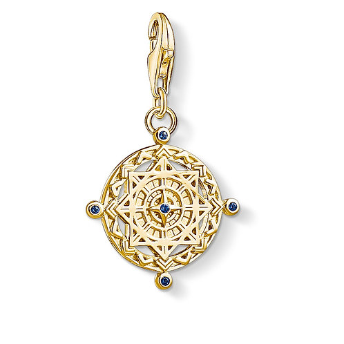 Thomas Sabo Yellow Gold Tone Compass Charm - 1662-922-39
