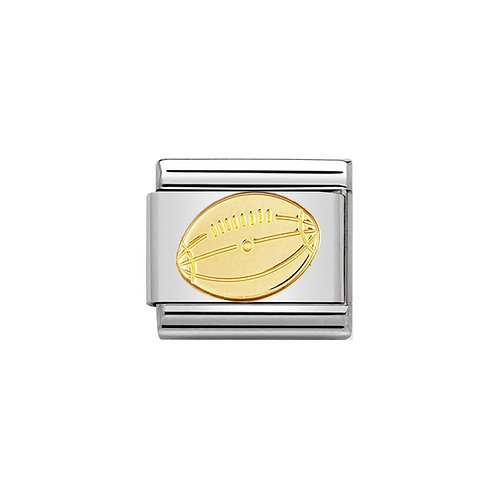 Nomination Gold Rugby Ball Charm Link - 030106/03