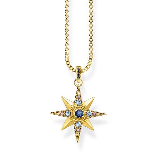 Thomas Sabo Gold Tone Royalty Star Necklace - KE1967-959-7-L45v