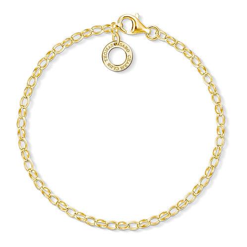 Thomas Sabo Yellow Gold Small Link Charm Bracelet - X0243-413-39