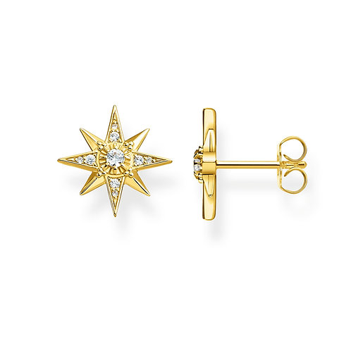 Thomas Sabo Sterling Silver Royalty Star Stud Earrings - H2081-414-14