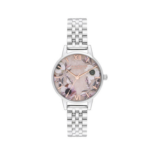Olivia Burton Midi Rose Quartz Stainless Steel Strap Watch - OB16SP07