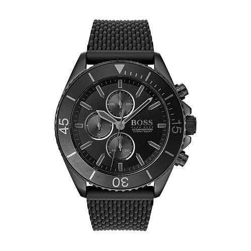 Hugo Boss Black Ocean Silicone Band Men's Watch - 1513699