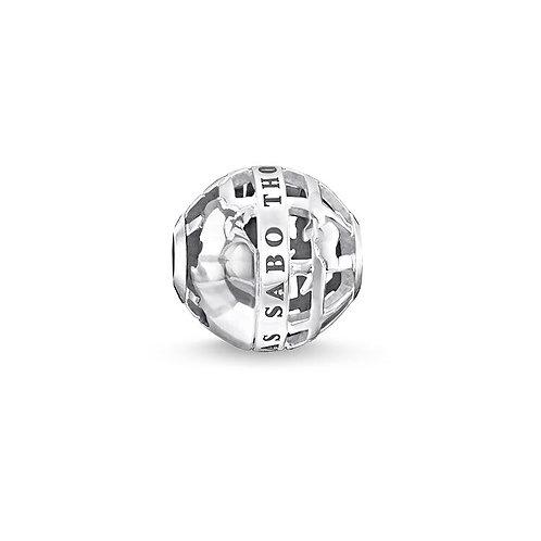 Thomas Sabo Karma Filigree Globe Bead Charm -K0261-001-12