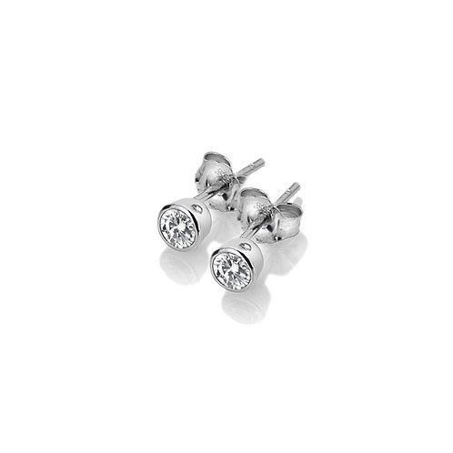 Hot Diamonds Sterling Silver Tender White Topaz Earrings - DE584