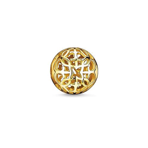 Thomas Sabo Karma Arabesque Gold Tone Bead Charm -K0056-413-12