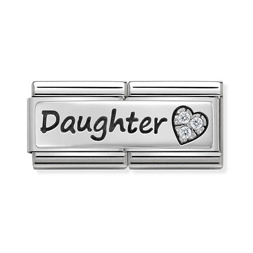 Nomination Silvershine Daughter Double Charm Link - 330731/32