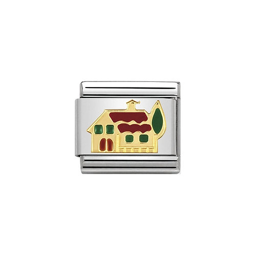 Nomination Gold Classic House Charm Link - 030208/19