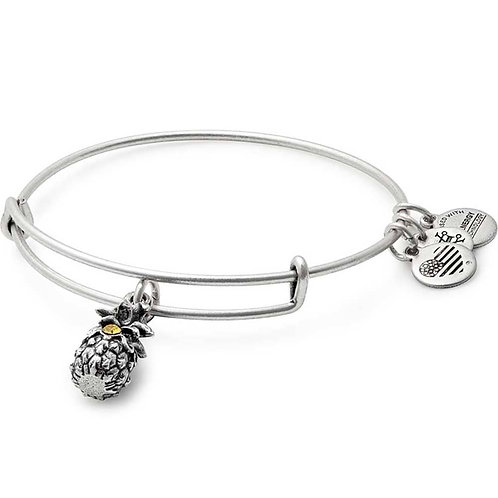 Alex and Ani Rafaelian Silver 'Pineapple' Charm Bangle - A17EB26RS