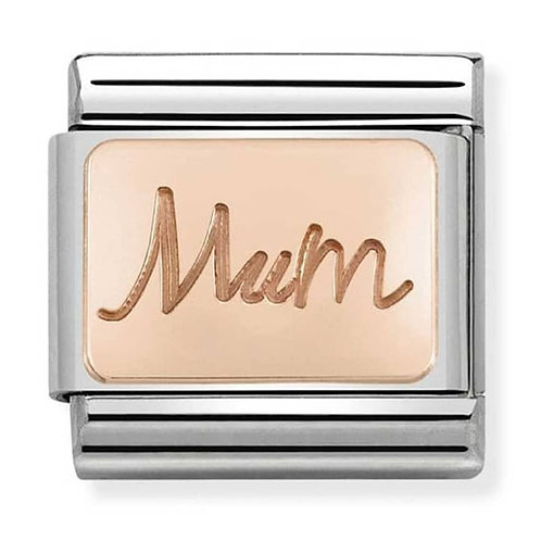 Nomination Rose Gold Mum Plate Charm Link - 430101/34