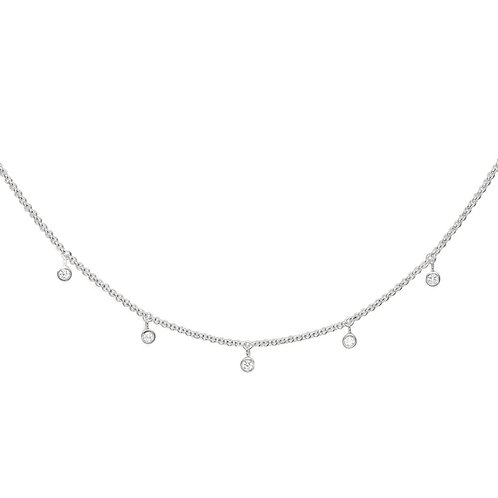 Thomas Sabo Sterling Silver Cubic Zirconia Drop Necklace - KE1536-051-14-l45v