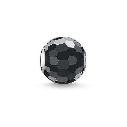 Thomas Sabo Karma Faceted Black Obsidian Bead Charm - K0003-023-11