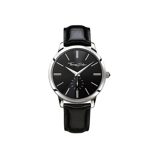 Thomas Sabo Men's Eternal Rebel Black Leather Strap Watch - WA0150