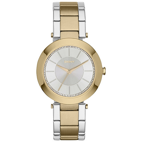 DKNY Ladies Two Tone Gold Stanhope Round Watch - NY2334