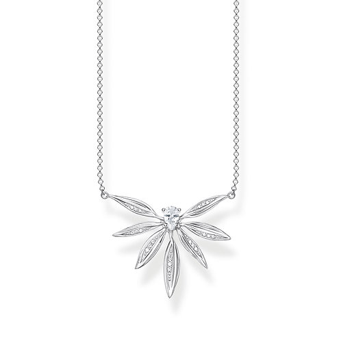 Thomas Sabo Sterling Silver Leaves Necklace - KE1837-845-7