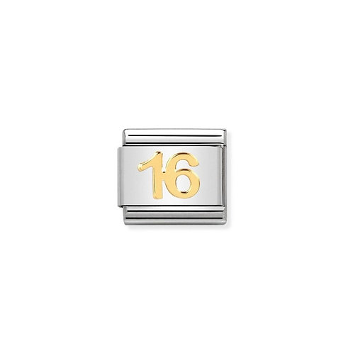 Nomination Gold Classic Sweet 16 Charm Link - 030109/35