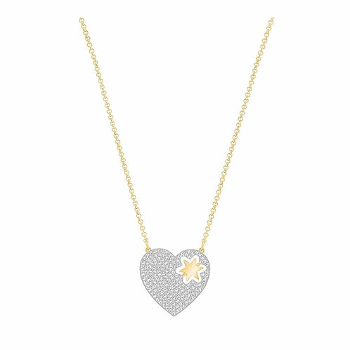 SWAROVSKI Sparkling Great Star Heart Necklace - 5273328