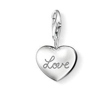 Thomas Sabo Silver Heart Love Locket Charm - 0812-001-12