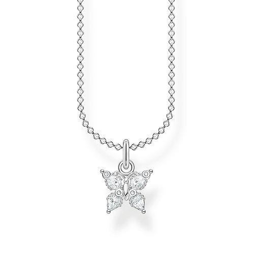 Thomas Sabo CZ Silver Butterfly Necklace - KE2102-051-14