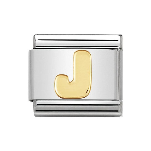 Nomination Gold Initial J Charm Link -030101/10