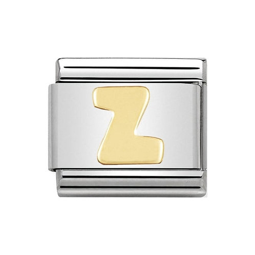 Nomination Gold Initial Z Charm Link -030101/26