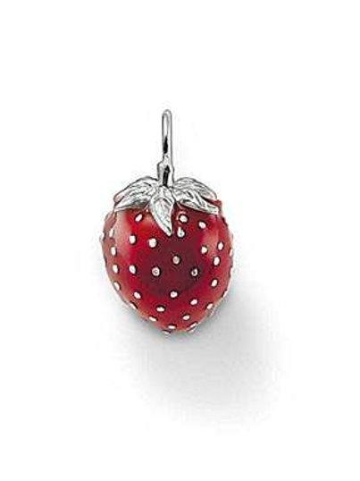 Thomas Sabo Silver Strawberry Pendant Charm - PE471-007-10
