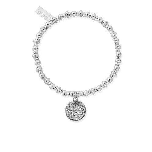 ChloBo Silver Didi Sparkle Moonflower Bracelet - SBDS697