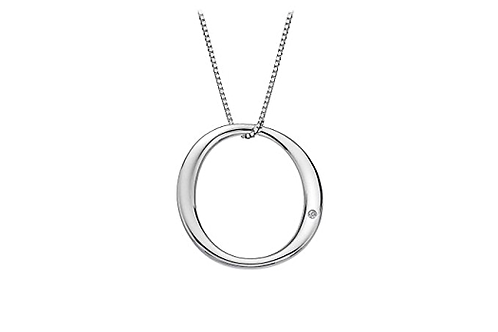 Hot Diamonds Sterling Silver Go with the Flow Circle Necklace - DP437