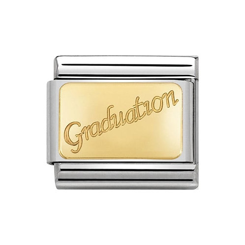 Nomination Gold Engraved Graduation Charm Link - 030121/37