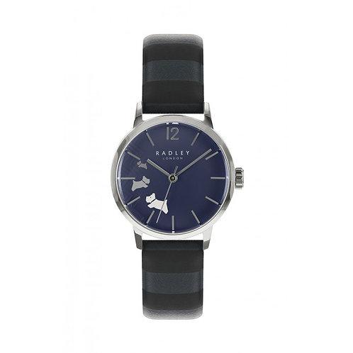 RADLEY Ladies Blue Striped Leather Strap Watch - RY2675