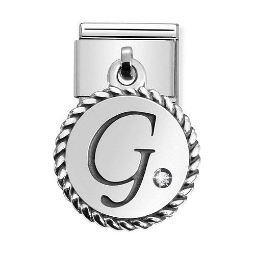 Nomination Silvershine Letter G Dangle Charm Link - 331809/07