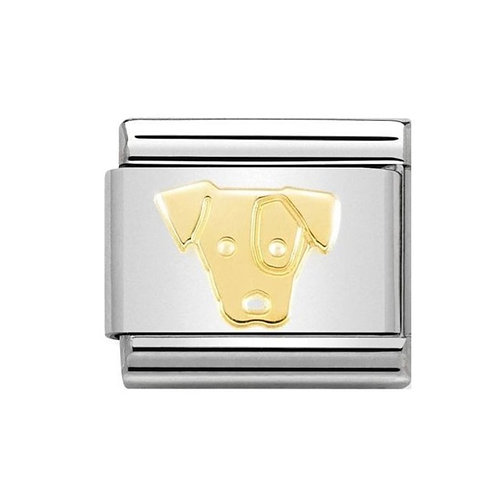 Nomination Gold Jack Russell Charm Link - 030162/58