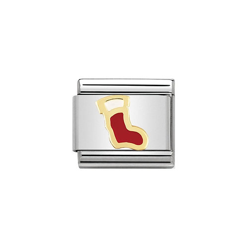 Nomination Gold Classic Christmas Stocking Charm Link - 030225/06