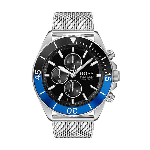 Hugo Boss Ocean Stainless Steel Mesh Band Men's Watch - 1513742
