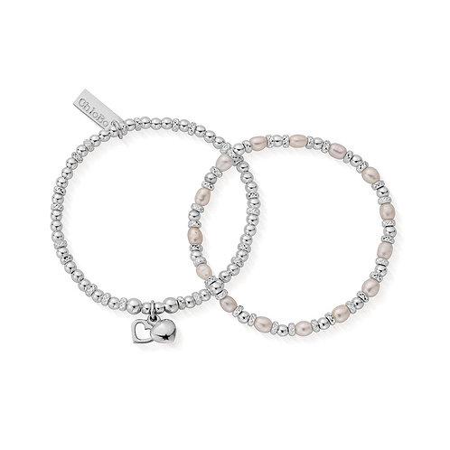 ChloBo Silver Forever Love Bracelet Set -SBSETFOREVER18