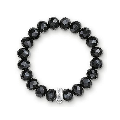 Thomas Sabo Silver Charm Club Black Obsidian Bracelet - X0035-023-11