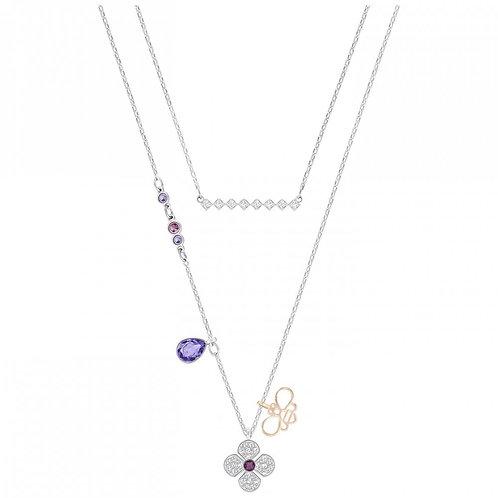 SWAROVSKI Crystal Glowing Clover Necklace Set - 5273297