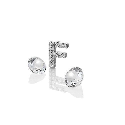 Anais by Hot Diamonds Sterling Silver Letter F Charm - AC074