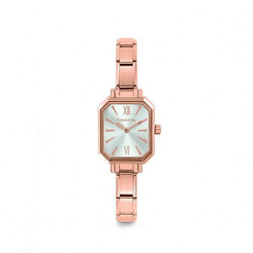 Nomination Composable Rose Gold Silver Sunray Dial Watch - 076031/017
