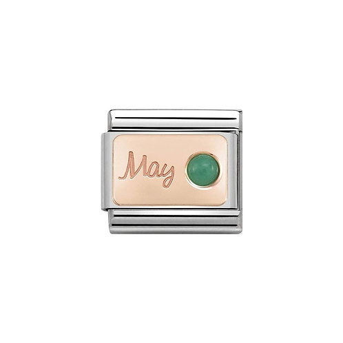 Nomination Rose Gold May Birthstone Charm Link - 430508/05