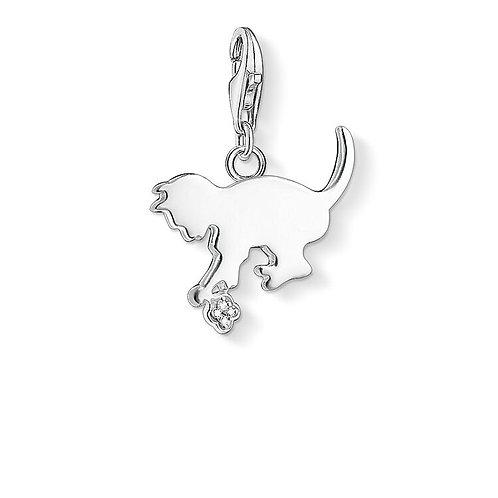 Thomas Sabo Silver and Diamonds Kitten Charm - DC0025-725-14